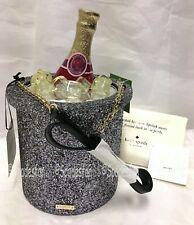 Kate Spade PXRU8332 Finer Things Champagne Bucket Crossbody Bag Glitter Ice NWT