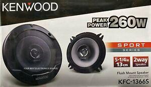 """NEW Kenwood KFC-1366S 5.25"""" 2-Way Coaxial Car Speakers 5-1/4"""" PAIR"""