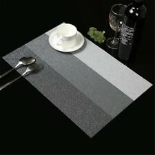 Dining Table Place Mats PVC Placemats Pad Weave Woven Effect Modern w/