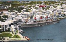 Postcard City of Hamilton Bermuda 1956 + Stamp