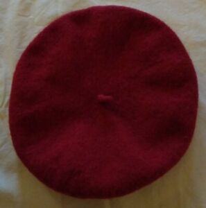 Janie And Jack 10-12 Girl Cranberry Red Wool Beret Hat Cap Christmas Holiday