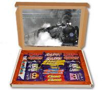 Steam Train Coal Track 24 Bar Cadbury Chocolate Hamper Personalised Gift Box