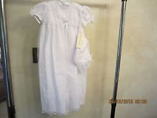 New Infant Christening Gown & Hat By Alexis Size 6 Mo. Beautiful Design!