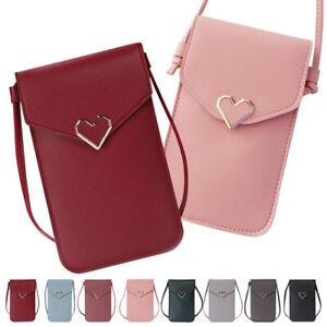 Fashion Cross body Girls Shoulder Bag Women PU Leather Handbags Lady Phone Purse