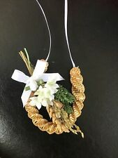 HANDMADE Small Horse Shoe CORN DOLLY. TRADIONAL COUNTRY Wedding GIFT Good Luck