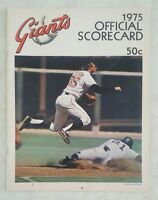 1975 SAN FRANCISCO GIANTS SCOREBOOK PROGRAM UNSCORED vs MONTREAL EXPOS
