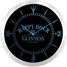 Guinness Happy Hour Bar 3D Neon Sign LED Wall Clock NC0055-B