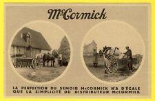 cpa CENTENAIRE 1931 Ets McCORMICK Pub Matériel AGRICOLE SEMOIR CHARRUE FERMIER