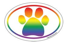 Rainbow Paw Print Euro Magnet