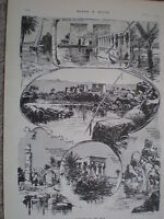Sketches on the Nile Philae Nubia Egypt 1903 old prints