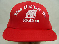 BEAR ELECTRIC - DONALD, OREGON - POLY FILL TRUCKER STYLE SNAPBACK BALL CAP HAT!
