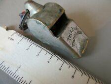 ANTIQUE VINTAGE VERY EARLY ENGLISH LARGE ACME THUNDERER WHISTLE POLICE REFEREE