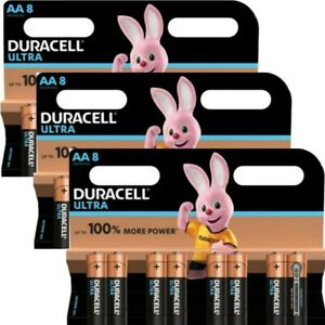 24 x  DURACELL ULTRA POWER AA ALKALINE BATTERIES DURALOCK LONGEST EXPIRY 3 X 8's