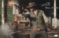 Rob Wiethoff Alex McKenna Signed 11x17 Red Dead Redemption 2 Authentic JSA COA