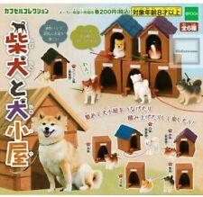 Japan EPOCH Shiba Inu & dog house Complete set of 6 Gashapon Capsule Toy Figures
