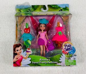9 Pc Disney Fairies Pixie Boutique Rosetta's Sweet Fruity Fashions NIB 2012#09.I