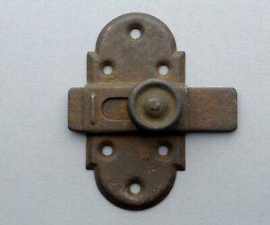 French, Antique. Iron Slide. Bolt Latch Lock. Rustic, Handmade.