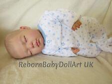 Nouveau-né bébé reborn poupée garçon dormir... par babydollart UK