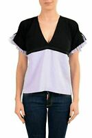 Just Cavalli Women's Multi-Color Blouse Top US S IT 40