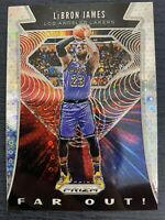 LEBRON JAMES 2019-20 PRIZM SILVER DISCO FAR OUT PARALLEL LOS ANGELES LAKERS SSP