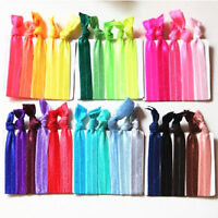 30pcs Women Lady Bow Knotted Ponytail Holder Ribbon Hair Ties Hairband Elastic