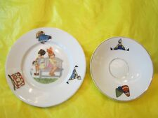 MADE IN BAVARIA GERMANY PLATE & SAUCER J.RIEBER SELB-MITTERTEICH CHILD TOY IMAGE