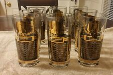 8 vintage 1950s glass sports tumblers
