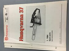 husqvarna chainsaw 37 na 84.018 illustrated parts list manual chainsaw