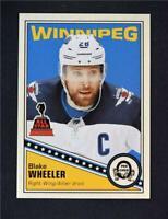 2019-20 UD OPC O-Pee-Chee Retro Blank Back Blake Wheeler - Winnipeg Jets