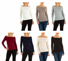 Damen-Pullover mit eckigem Ausschnitt Normalgröße