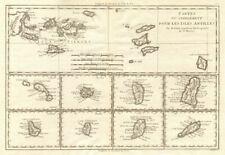Cartes de supplément pour les Isles Antilles. West Indies Islands BONNE 1790 map