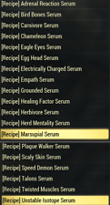 Fallout 76 (PC) All Serum Recipes (19 Total)