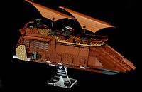 Star Wars Lego 75020 Jabbas Sail Barge - custom display stand only