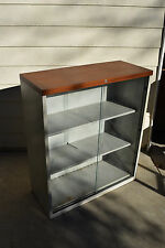 Trophy Glass-Display-Cabinet-Wall-Office-Show Lab Case Bookcase Industrial