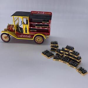 Franklin Mint Die Cast Repo 1913 Model T Coca Cola Open Delivery Truck Bottles