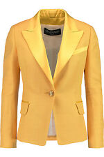 Balmain Yellow Blazer Jacket  FR42