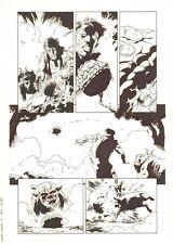 Marvel Zombies 3 #4 p.14 - Machine Man blows up Zombie Lockjaw - 2009 Kev Walker Comic Art