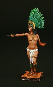 Tin soldier, Collectible Aztec Priestess 54 mm, New World