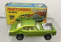Matchbox 67 Green Hot Rocker Car Rolamatics NMIB