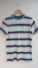 BNWT (£18) NEXT Stone/Multi Col. Striped Short Sleeve T-Shirt Size XS Chest 32""