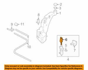 Genuine Audi 97 - 99 A8 Quattro Headlight Washer Nozzle 4D0955185