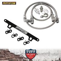 BA BF Ford Falcon XR6 Turbo Aeroflow Braided Oil Feed Line With Support Bracket