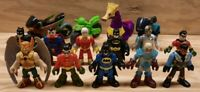 Fisher Price Imaginext DC Mixed Super Hero Villain Figure Vehicle Toy LOT of 15