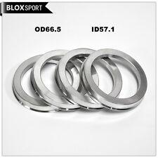 Aluminum Hub Centric Ring Wheel Spacer 66.5mm O/D 57.1mm I/D for VW & Audi