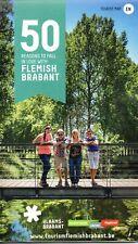 Sheet Road Map of The Flemish Brabant Area, Belgium,