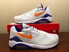 reputable site 3df1e 39a58 Nike Air Max 180 Bright Ceramic Orange Concord Purple White OG 615287-101  Size 8