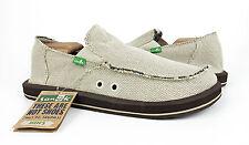 Sanuk Vagabond Hemp Natural Sidewalk Surfer Shoes Mens Size 11 *NEW*