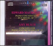 Amy BEACH & Edward MacDOWELL Piano Concerto EUGENE LIST BOEHM CD Klavierkonzerte