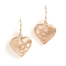 Jody Coyote Earrings JC0276 Wild Hearts Collection WIL-0312-06 gold dangle heart