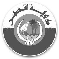 2 x Vinyl Stickers 10cm (bw) - Qatar Doha Flag Travel Arab  #40197